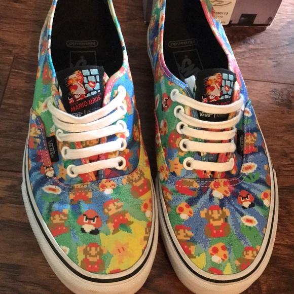 848166a49c Limited Edition VANS Nintendo Super Mario Shoes. M 5ae9f2473b1608de3b67b67d